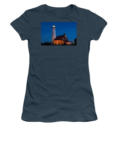 Night At The Lighthouse Women's T-Shirt (Junior Cut) by Patrick Shupert