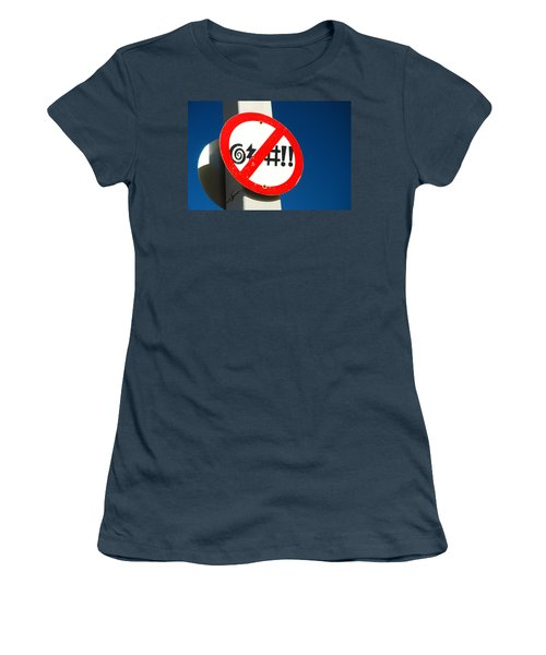 Women's T-Shirt (Junior Cut) featuring the photograph No Cursing Here by James Kirkikis