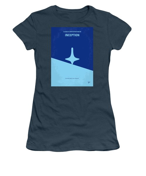 No240 My Inception Minimal Movie Poster Women's T-Shirt (Junior Cut) by Chungkong Art