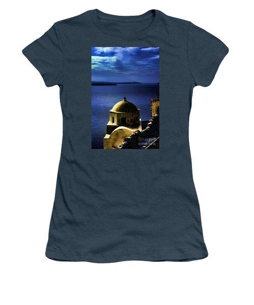 Oia Greece Women's T-Shirt (Junior Cut) by Tom Prendergast