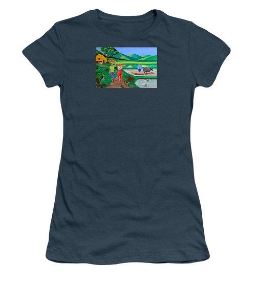 One Beautiful Morning In The Farm Women's T-Shirt (Junior Cut)