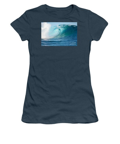 Pacific Big Wave Crashing Women's T-Shirt (Junior Cut)