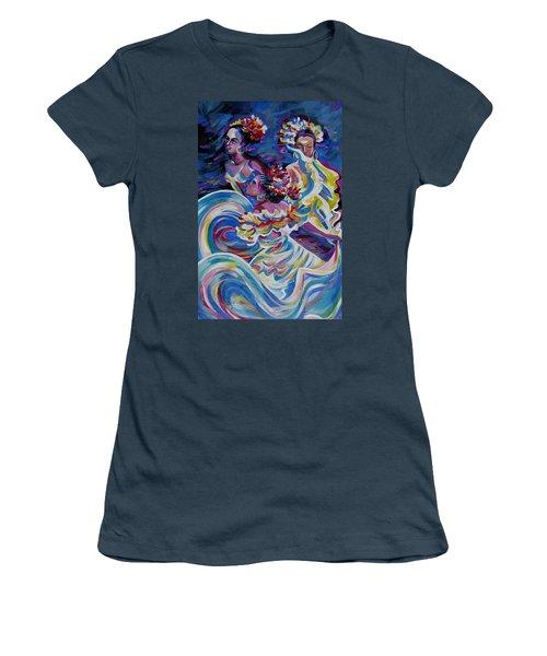 Panama Carnival. Folk Dancers Women's T-Shirt (Junior Cut)