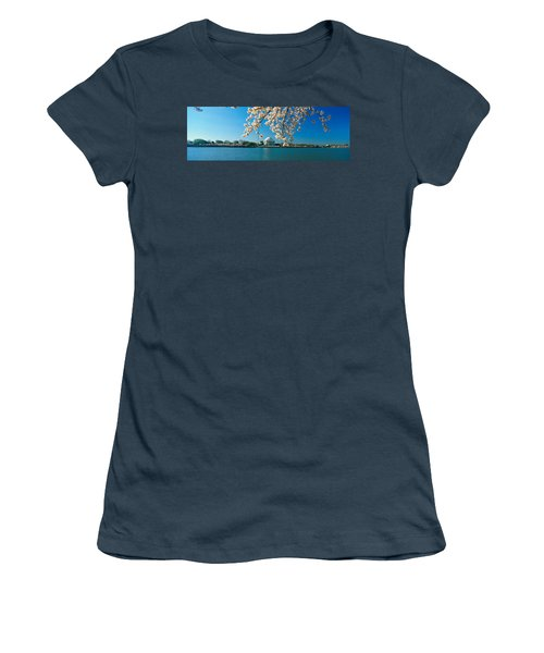 Panoramic View Of Jefferson Memorial Women's T-Shirt (Junior Cut) by Panoramic Images