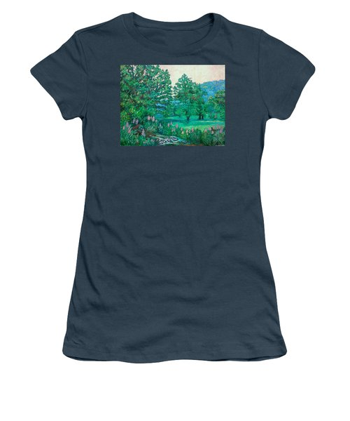 Women's T-Shirt (Junior Cut) featuring the painting Park Road In Radford by Kendall Kessler
