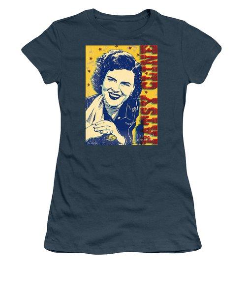 Patsy Cline Pop Art Women's T-Shirt (Junior Cut) by Jim Zahniser