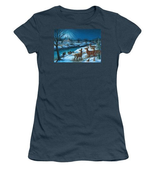 Peaceful Winters Night Women's T-Shirt (Junior Cut)