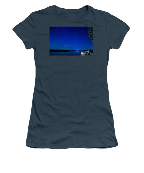 Perseid Meteor Women's T-Shirt (Junior Cut) by Charles Hite