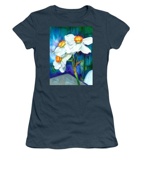 Petal Portrait Women's T-Shirt (Junior Cut) by Barbara Jewell