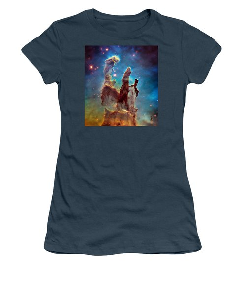 Pillars Of Creation In High Definition - Eagle Nebula Women's T-Shirt (Junior Cut) by Jennifer Rondinelli Reilly - Fine Art Photography