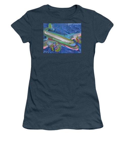 Plane Colorful Women's T-Shirt (Junior Cut)