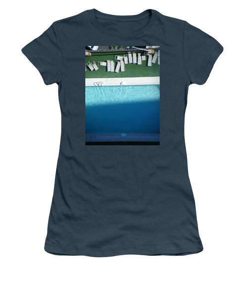 Poolside Upside Women's T-Shirt (Junior Cut) by Brian Boyle