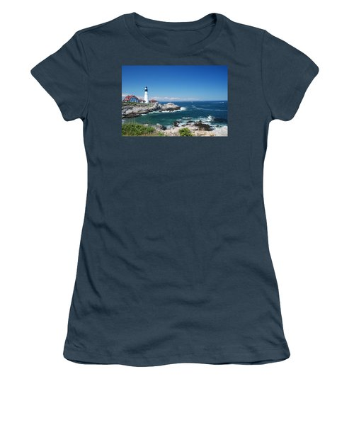 Portland Head Lighthouse Women's T-Shirt (Junior Cut) by Allen Beatty