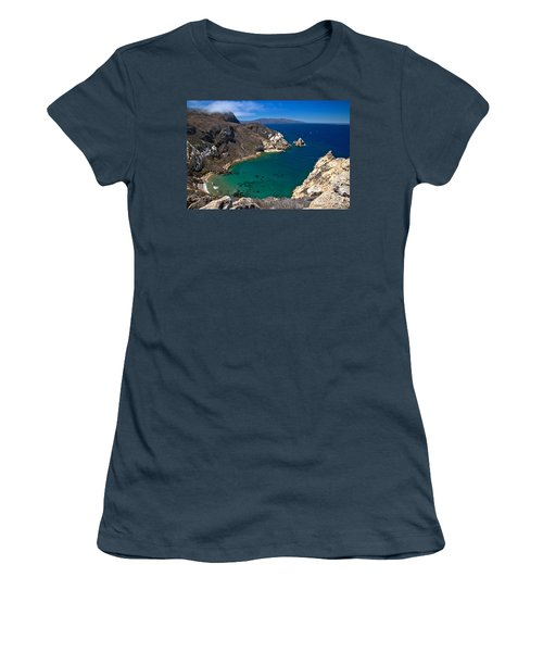 Potato Harbor Views Women's T-Shirt (Junior Cut) by Adam Jewell
