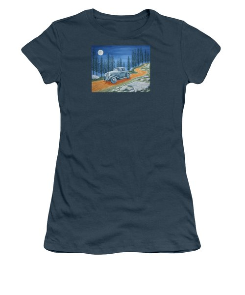 Women's T-Shirt (Junior Cut) featuring the painting Racing Was Born In North Carolina by Stacy C Bottoms