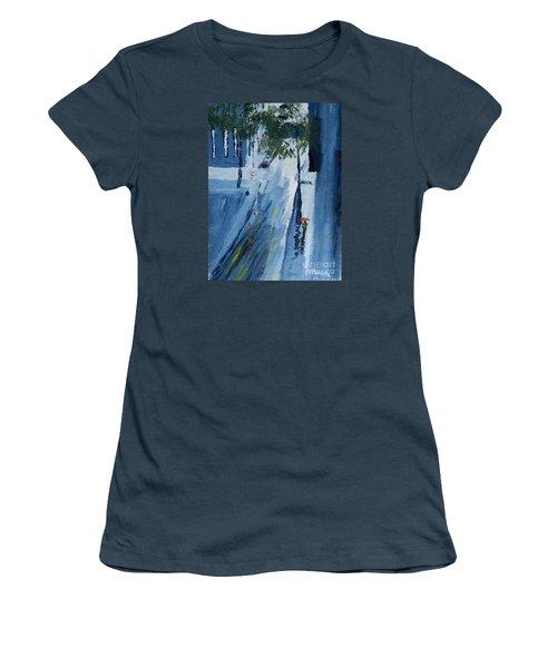 Raining Again Women's T-Shirt (Junior Cut) by Pamela  Meredith