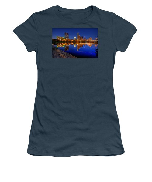 Women's T-Shirt (Junior Cut) featuring the photograph Reflections by Dave Files