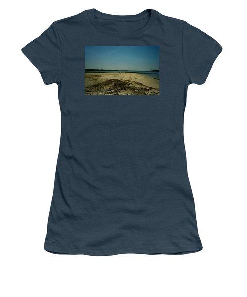 Women's T-Shirt (Junior Cut) featuring the photograph Rehoboth Bay Beach by Amazing Photographs AKA Christian Wilson