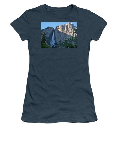 Rising Sun At Upper Yosemite Falls Women's T-Shirt (Junior Cut) by Michele Myers
