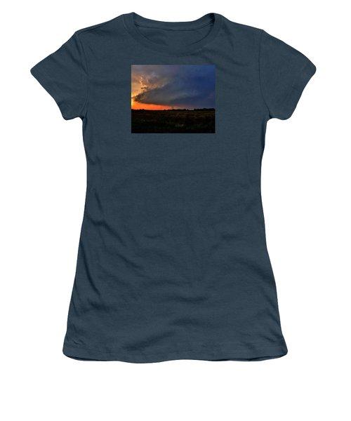 Women's T-Shirt (Junior Cut) featuring the photograph Rozel Tornado by Ed Sweeney