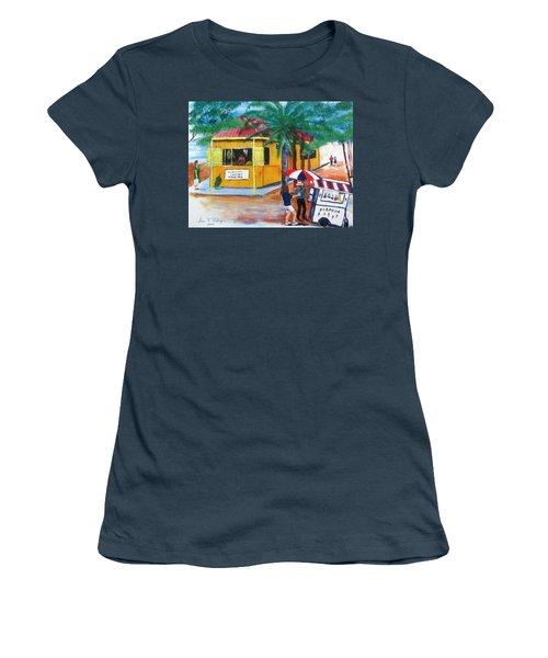 Sabor A Puerto Rico Women's T-Shirt (Junior Cut) by Luis F Rodriguez