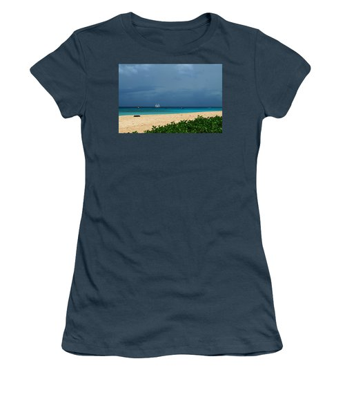 Sail Away Women's T-Shirt (Junior Cut) by Catie Canetti
