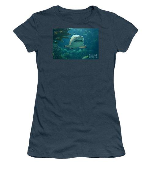 Women's T-Shirt (Junior Cut) featuring the photograph Sand Shark by Robert Meanor