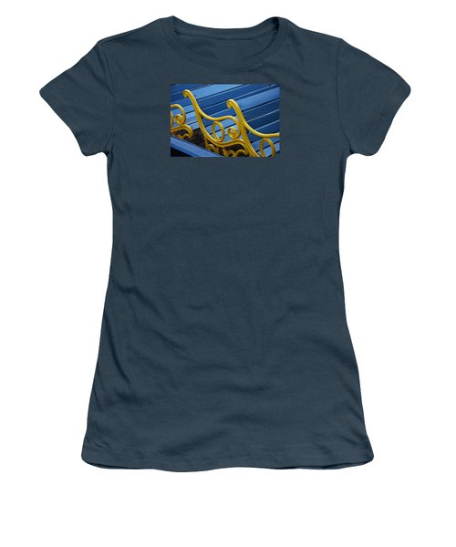 Women's T-Shirt (Junior Cut) featuring the photograph Skc 0246 The Garden Benches by Sunil Kapadia