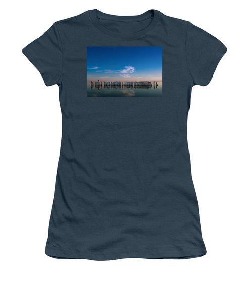 Still Water Women's T-Shirt (Junior Cut) by Ralph Vazquez