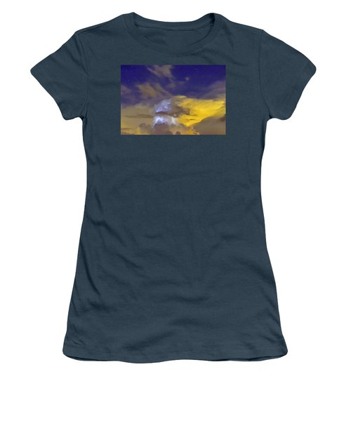 Women's T-Shirt (Junior Cut) featuring the photograph Stormy Stormy Night by Charlotte Schafer