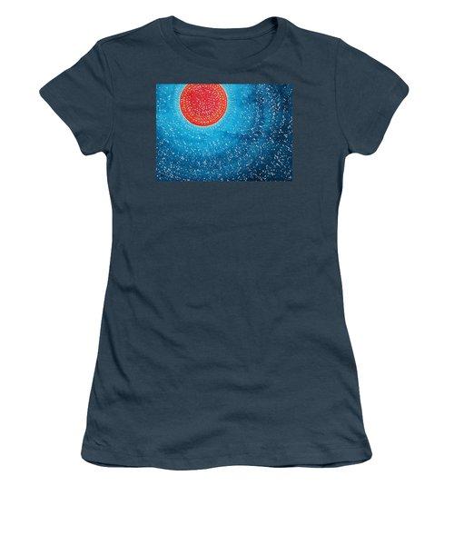 Summer Sun Original Painting Women's T-Shirt (Junior Cut) by Sol Luckman