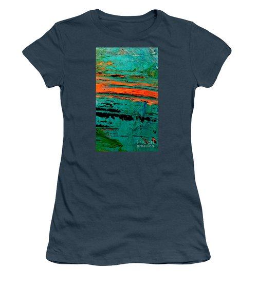 Women's T-Shirt (Junior Cut) featuring the painting Sunrise On The Water by Jacqueline McReynolds