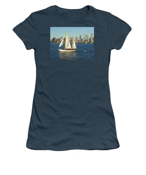 Women's T-Shirt (Junior Cut) featuring the photograph Mind If I Tag Along by Natalie Ortiz