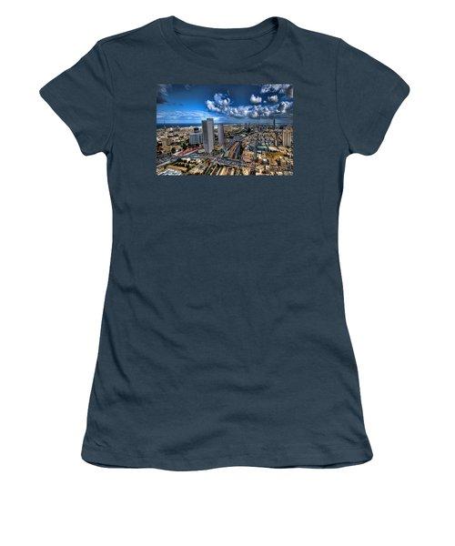 Tel Aviv Center Skyline Women's T-Shirt (Junior Cut) by Ron Shoshani