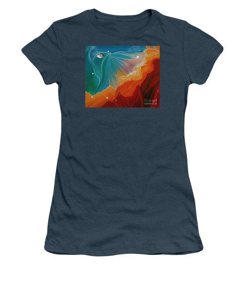The Final Frontier Women's T-Shirt (Junior Cut) by Barbara McMahon