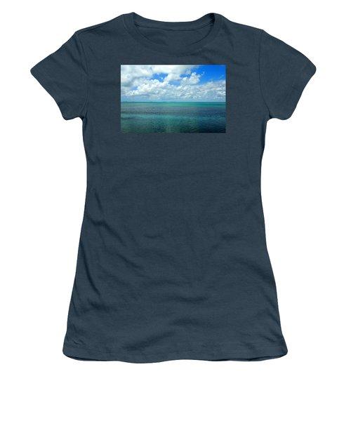 The Florida Keys Women's T-Shirt (Junior Cut) by Amy McDaniel