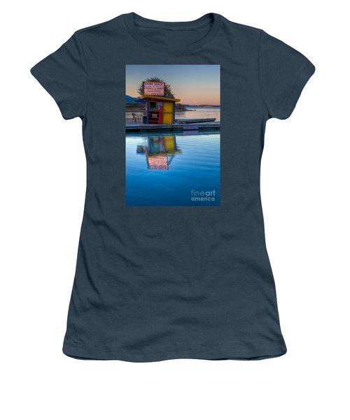 The Kayak Shack Morro Bay Women's T-Shirt (Junior Cut) by Terry Garvin