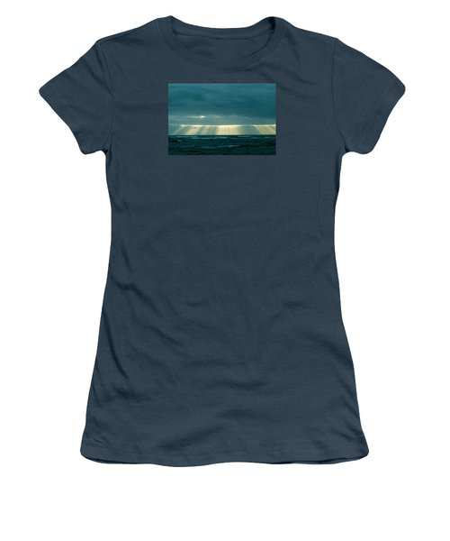Women's T-Shirt (Junior Cut) featuring the photograph The Light Above Kapoho by Lehua Pekelo-Stearns