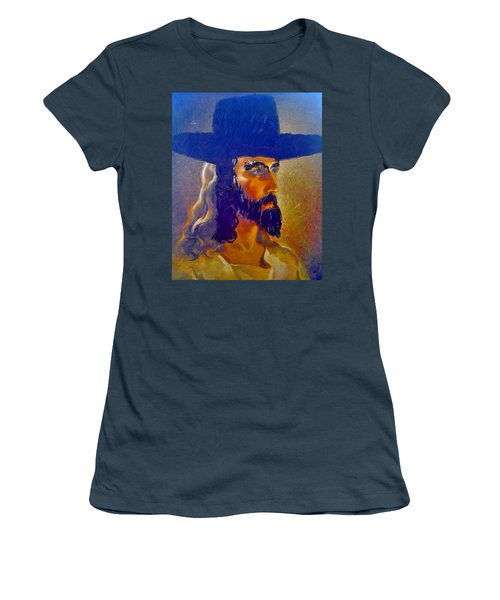 Women's T-Shirt (Junior Cut) featuring the painting The Man by Lisa Piper