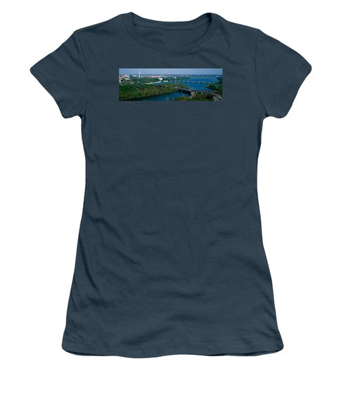 This Is An Aerial View Of Washington Women's T-Shirt (Junior Cut) by Panoramic Images