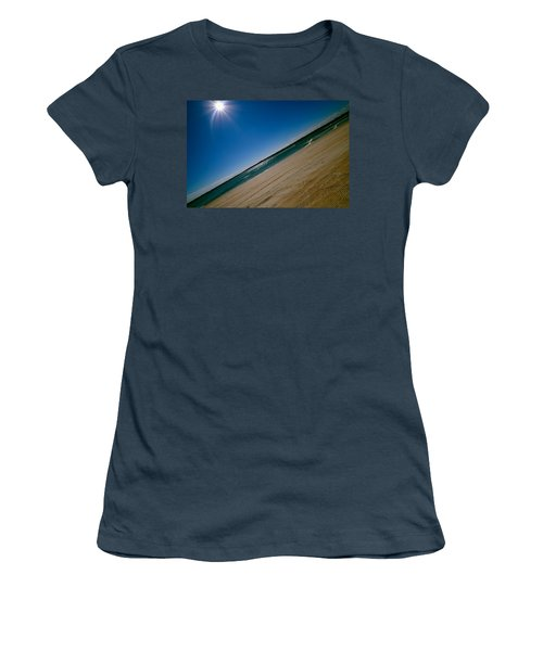 Women's T-Shirt (Junior Cut) featuring the photograph Treads In The Sand by DigiArt Diaries by Vicky B Fuller