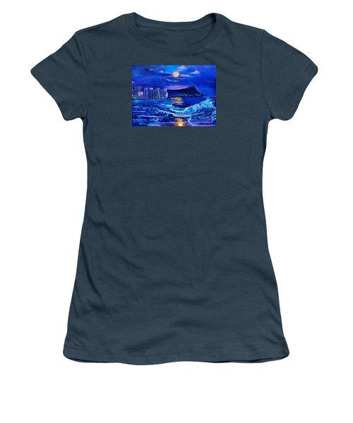Waikiki Lights Women's T-Shirt (Junior Cut)