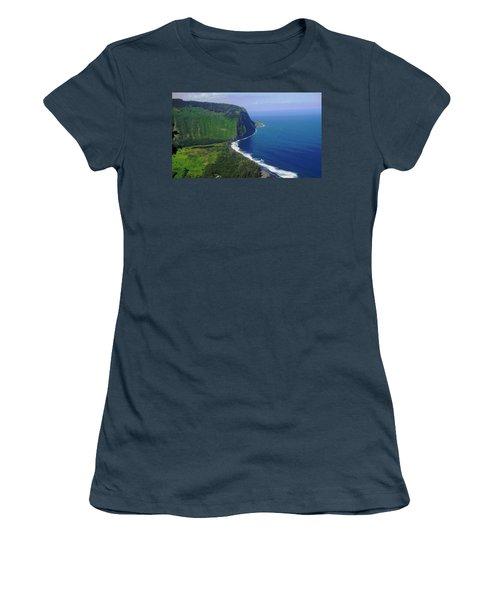 Waipio Valley Women's T-Shirt (Junior Cut) by Pamela Walton