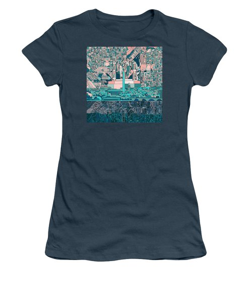 Washington Dc Skyline Abstract 5 Women's T-Shirt (Junior Cut)