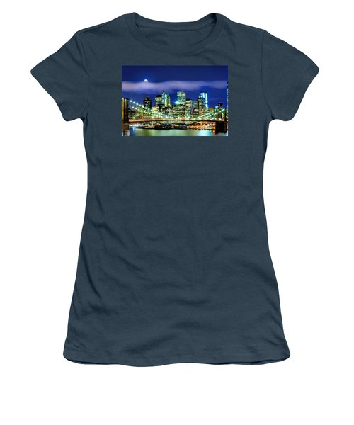 Watching Over New York Women's T-Shirt (Junior Cut) by Az Jackson