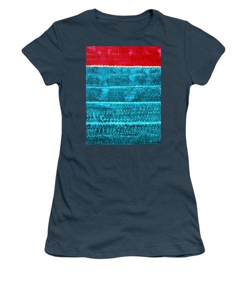 Waves Original Painting Women's T-Shirt (Junior Cut) by Sol Luckman