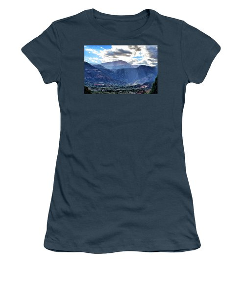 Women's T-Shirt (Junior Cut) featuring the photograph Westside Colorado Springs by Clarice  Lakota