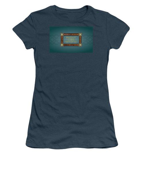 Whe Irish Eyes Are Smiling Women's T-Shirt (Junior Cut)