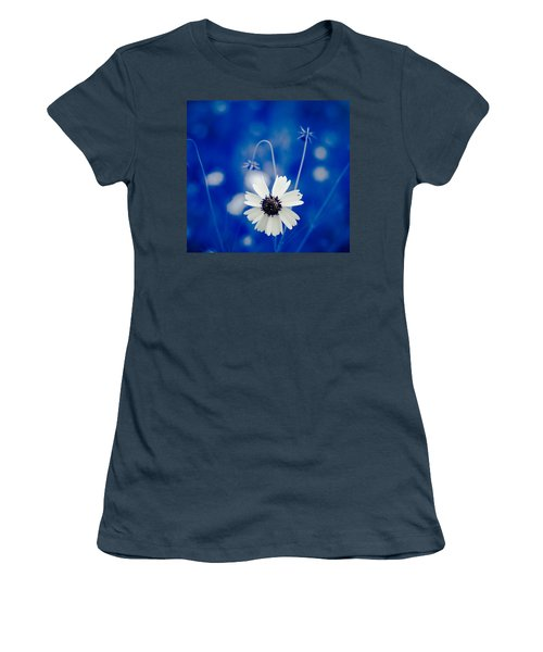 White Flower Women's T-Shirt (Junior Cut) by Darryl Dalton