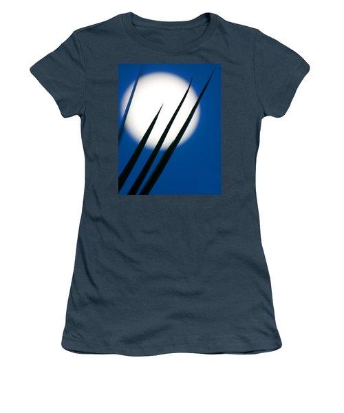 Women's T-Shirt (Junior Cut) featuring the photograph Yucca Moon by Jim Garrison